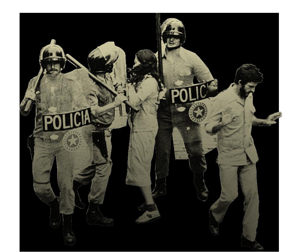 As pressões da direita militar e o combate à esquerda armada levaram à  construção de uma máquina de repressão política feroz e serviram de  pretexto para o ... fffc0d1c308